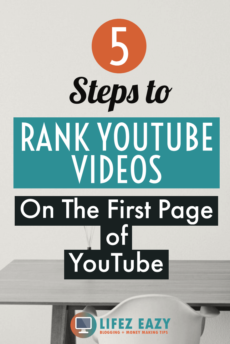 Rank YouTube videos fast Pinterest pin