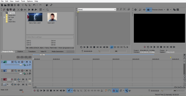 Vegas Pro Video imported