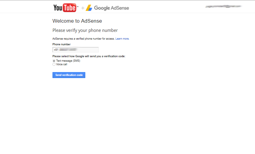 adsense verification page