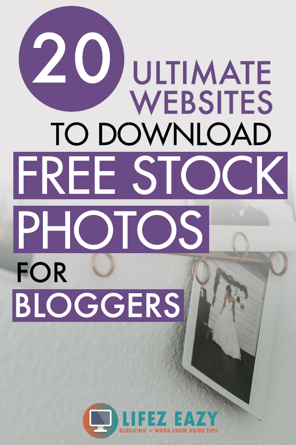 Pinterest pin for free photos