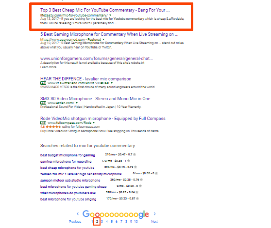 My article ranking on 2nd page of Google