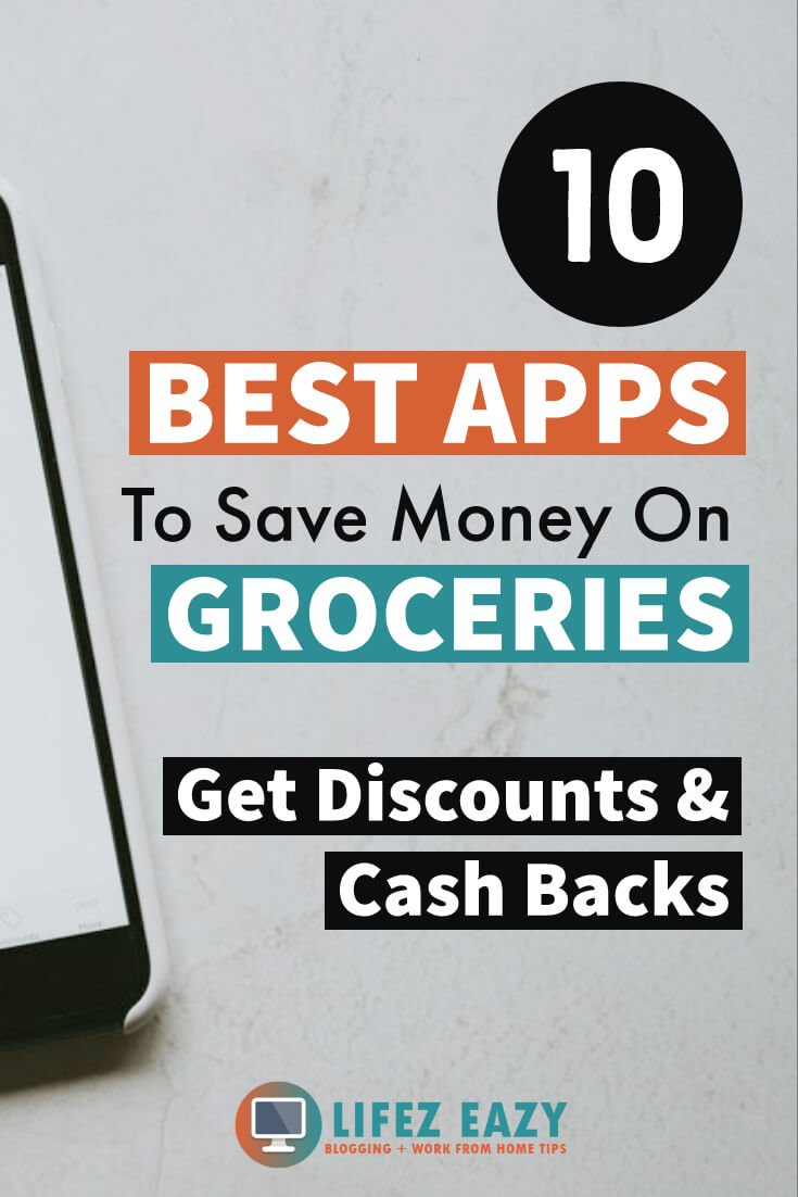 Best Apps to save money on Groceries pin