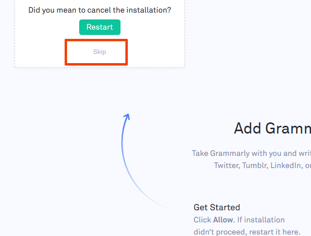 Grammarly Installation
