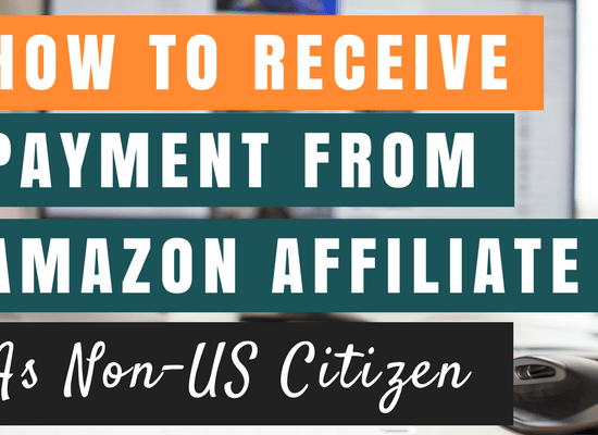 Receive payment from Amazon affiliate cover picture