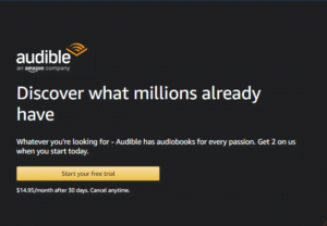 This is Audible website