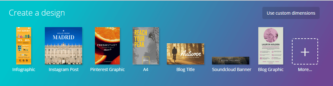 Canva website