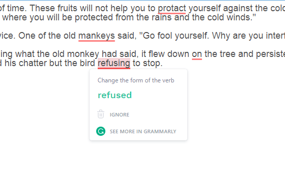 Grammarly spell check