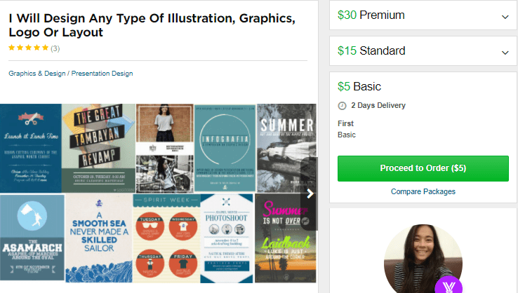 Illustration & Graphics Fiverr gigs