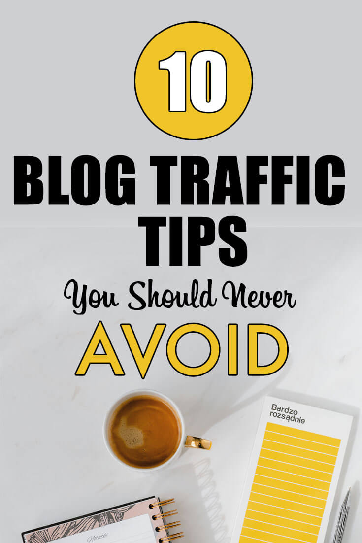 Pinterest pin for blog Traffic