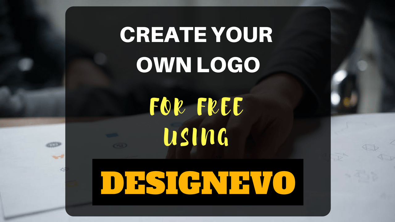 Create your own logo for free using designevo for your for Draw my own logo