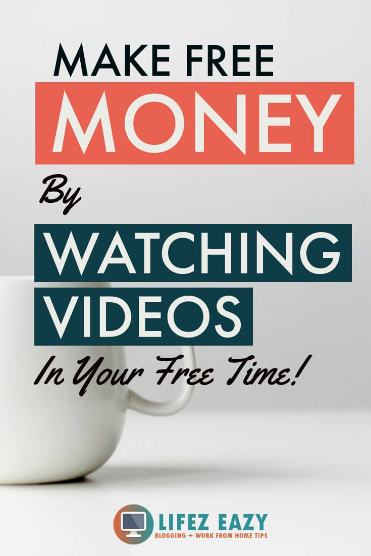 Pinterest pin for making money by watching videos