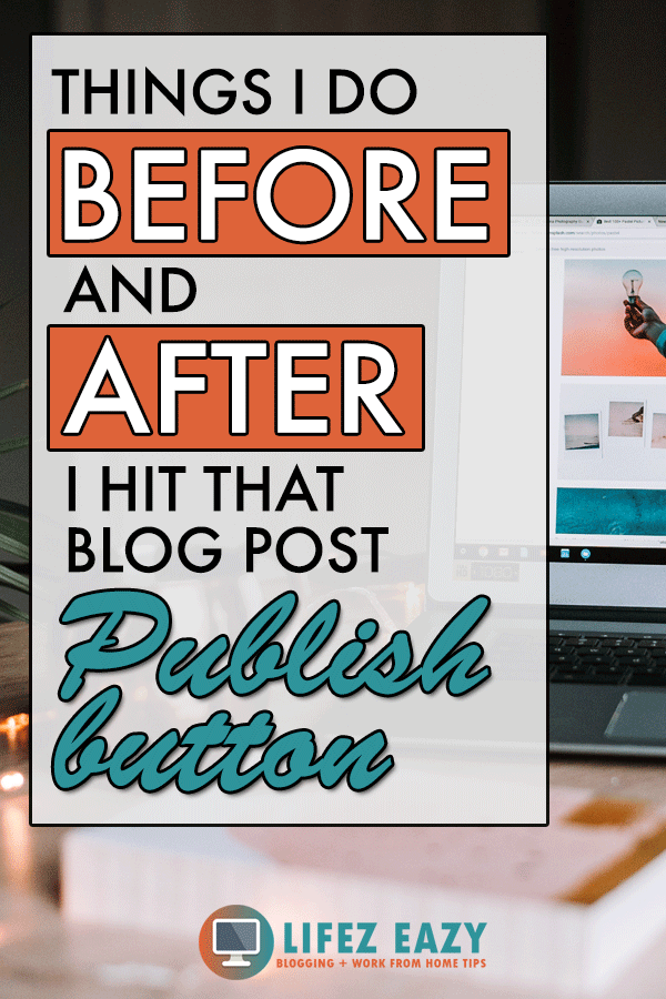 Pinterest image for Blog post checklist