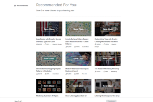 Skillshare recommended courses