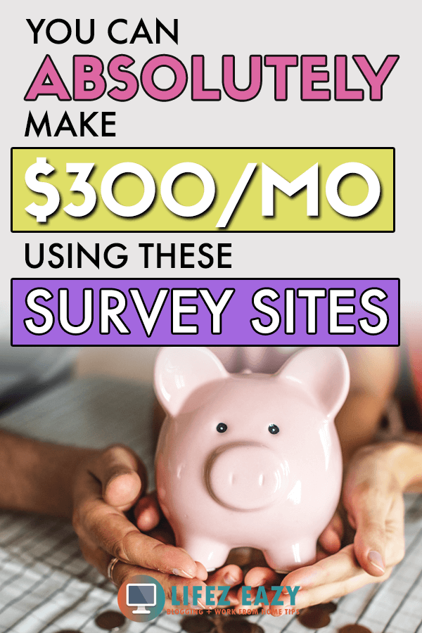 Make money from Surveys Pinterest Pin