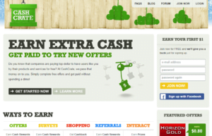 Cashcrate website
