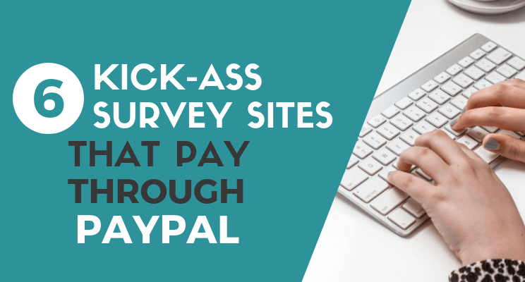 Survey sites that pay through Paypal blog post cover