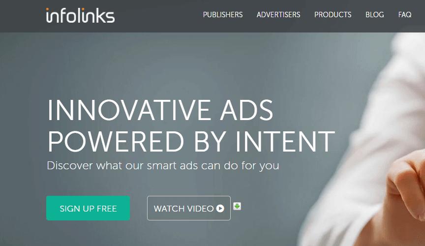 This is Infolinks website