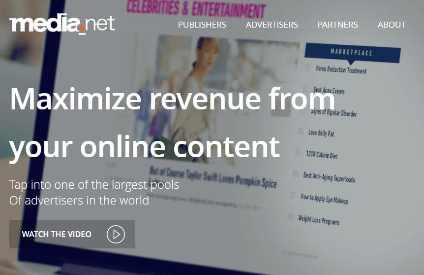 This is Media.net website