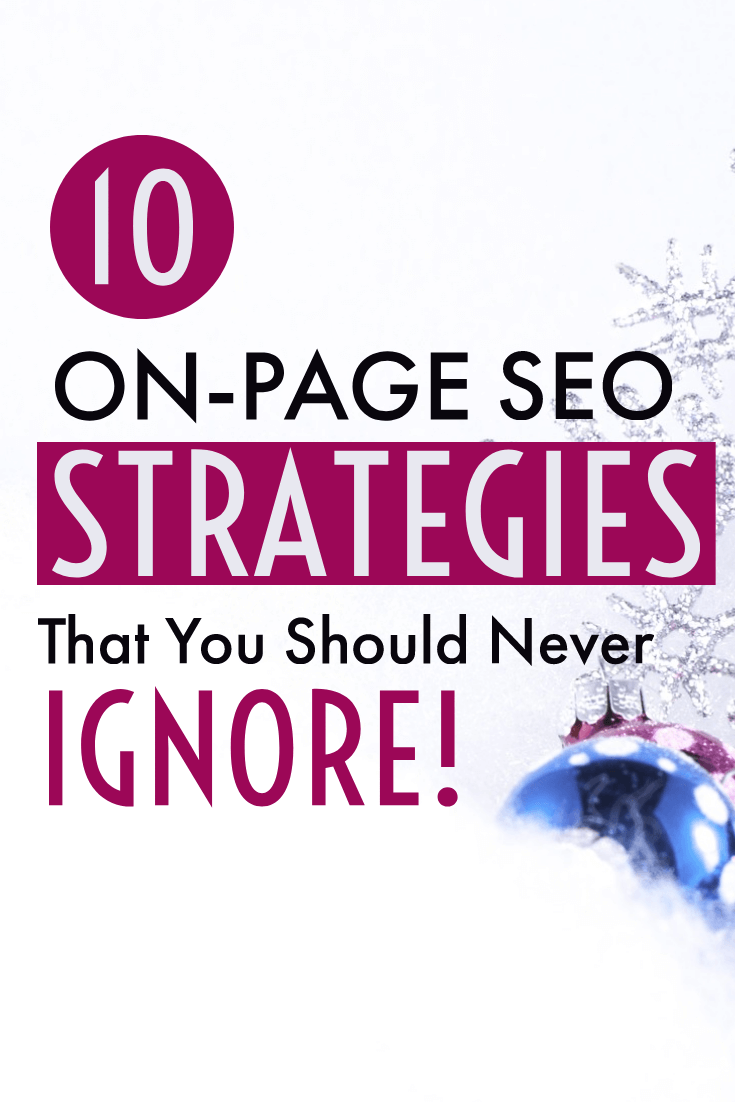 On Page SEO Pinterest pin