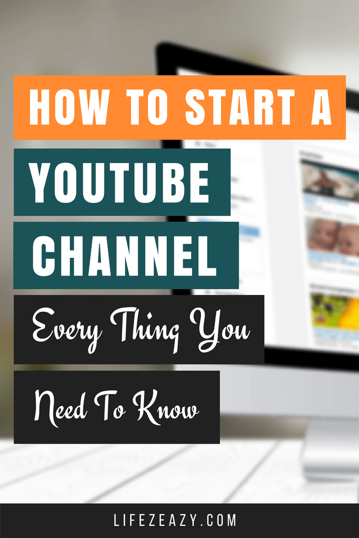 How to create a Youtube channel Pinterest Pin