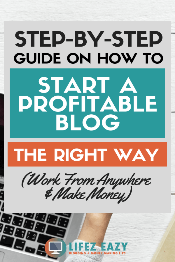 Start profitable blog Pinterest pin