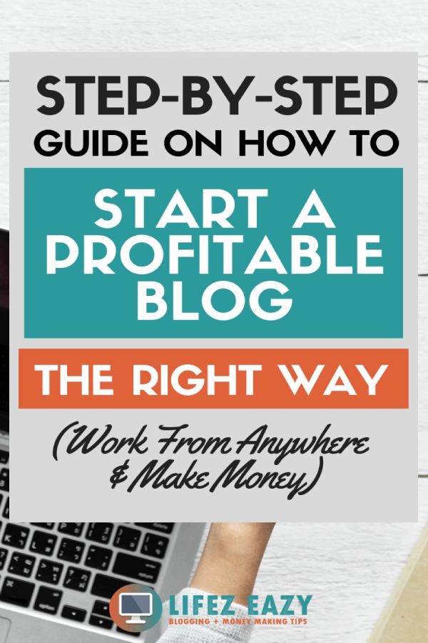 Start profitable blog Pinterest pin