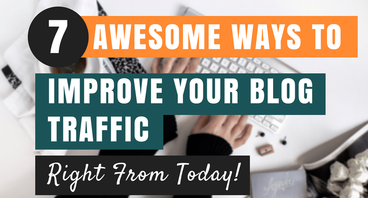Ways to improve blog traffic cover picture