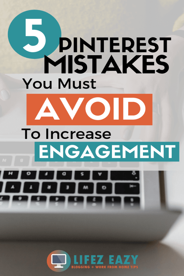 Pinterest pin for Pinterest mistakes