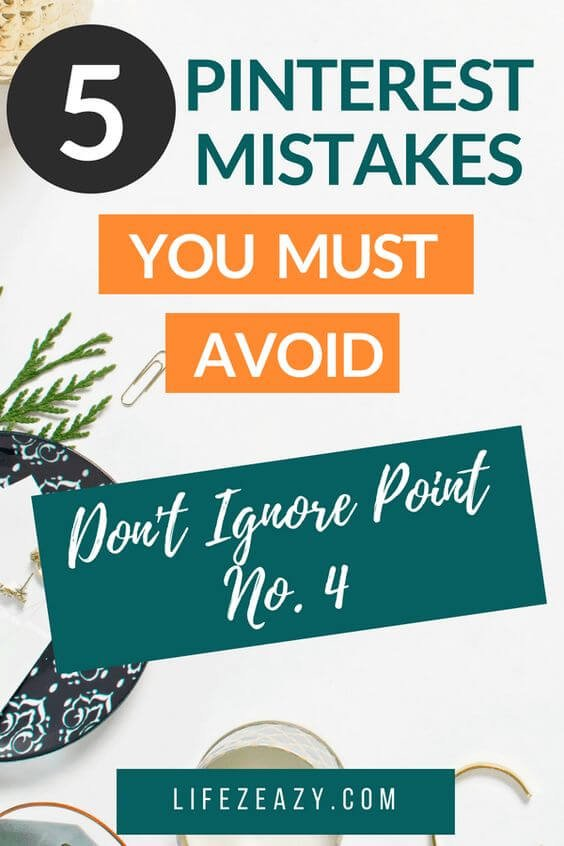 Check out 5 Pinterest Mistakes that you might be doing and you need to fix that as soon as possible. Fixing these mistakes can result in more Pinterest traffic. #Pinterest #pinterestmarketing #pinterestfail #Pinterestmistakes