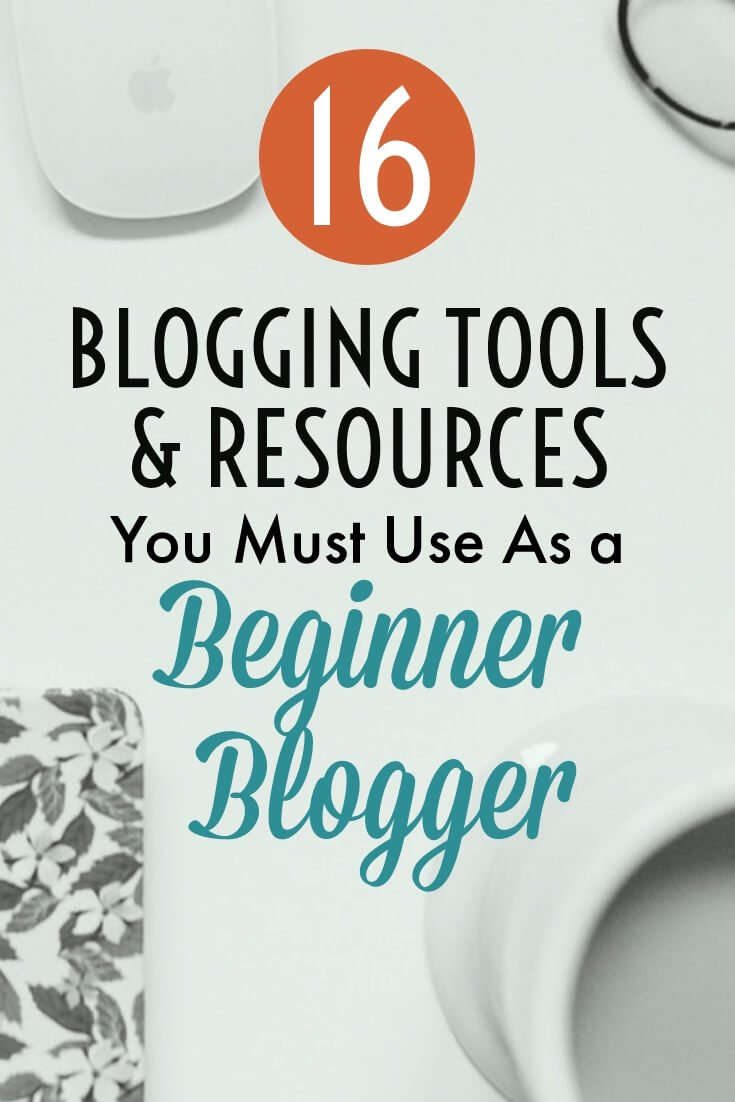 Blogging Tools Resources pin