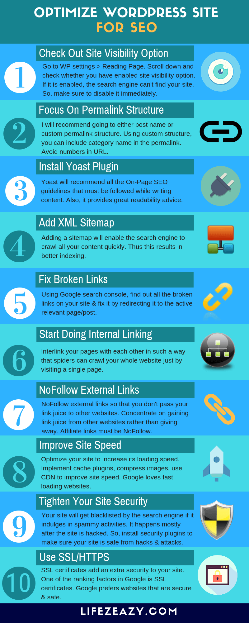 If you want to optimize WordPress site for SEO, check out these 10 steps to make your site SEO friendly. #seo #wordpressseo