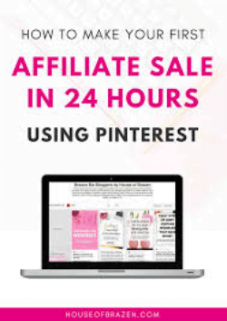 affiliate sale using Pinterest ebook