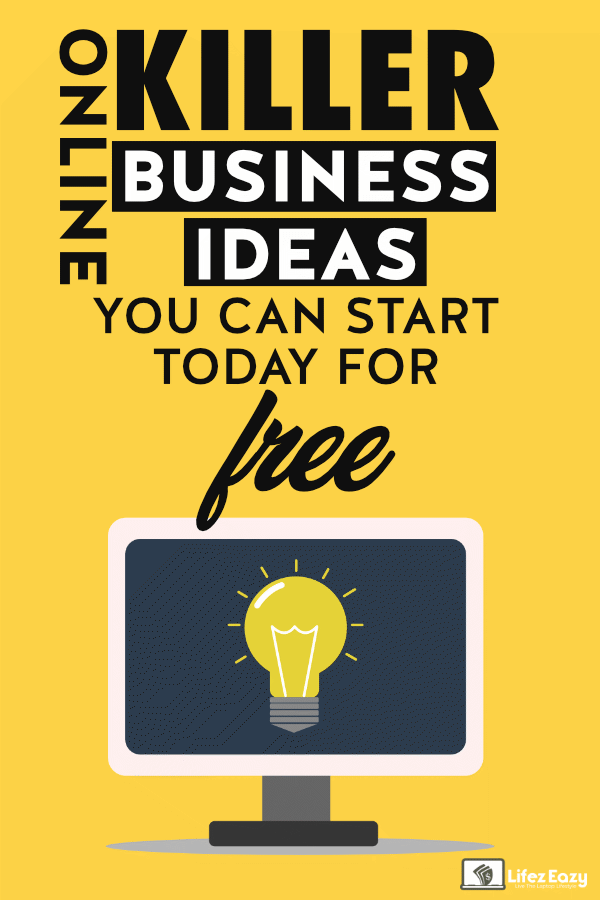 Online Business Ideas Without Investment Pinterest pin