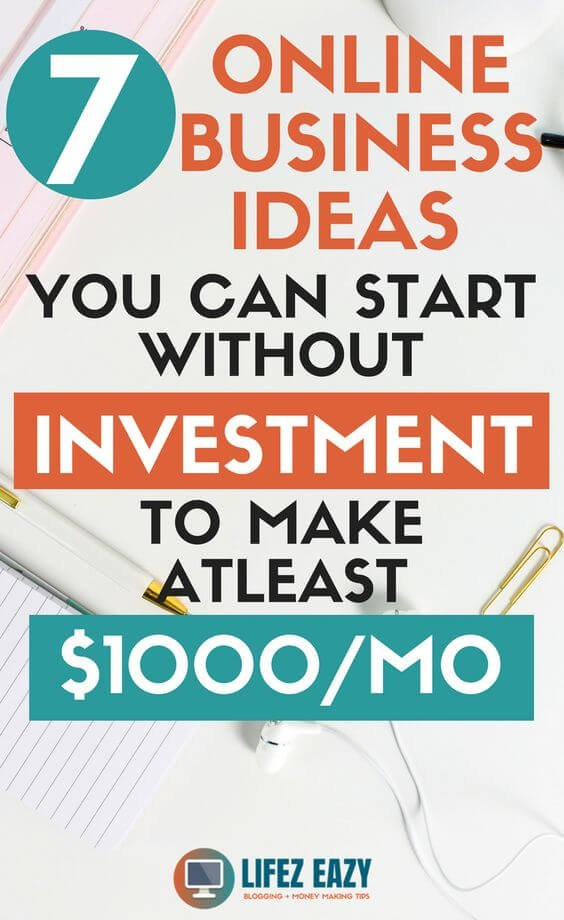 Check out 7 ideas that you can use to start online business with no money. You can literally make $1000/mo. #startbusinesswithnomoney #startonlinebusinesswithnomoney