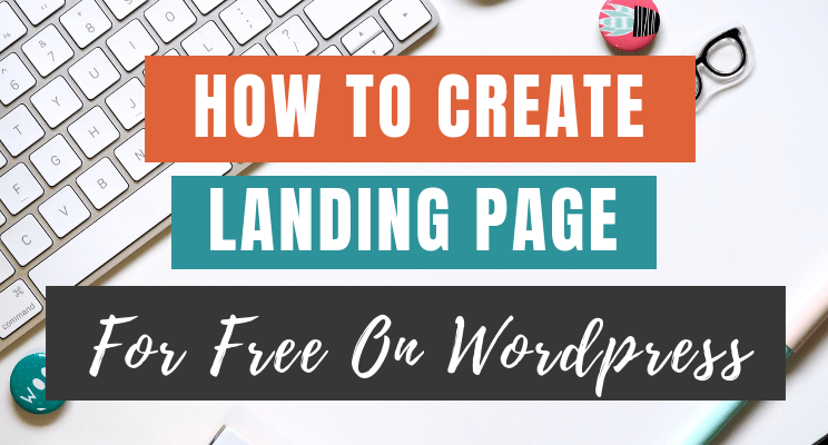 create landing page for free blog cover