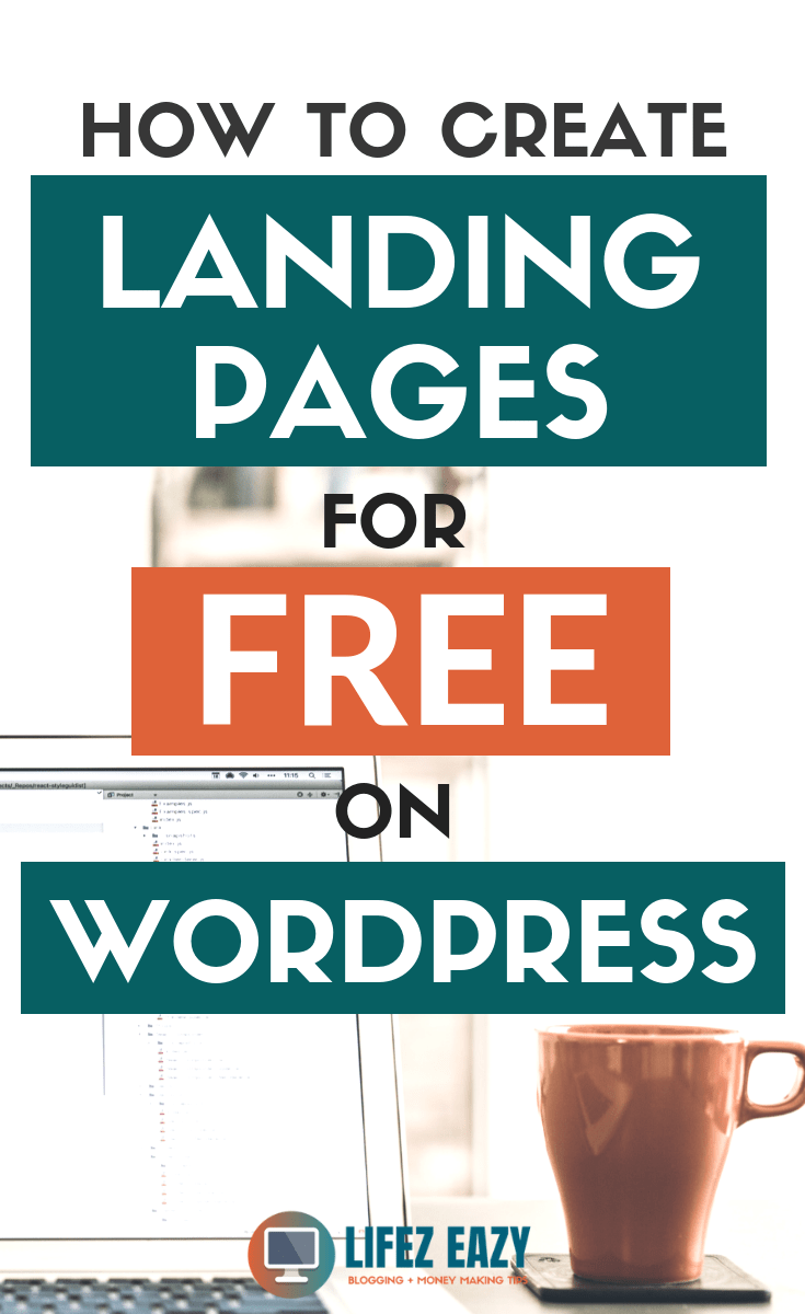 Create free landing page Pinterest Pin