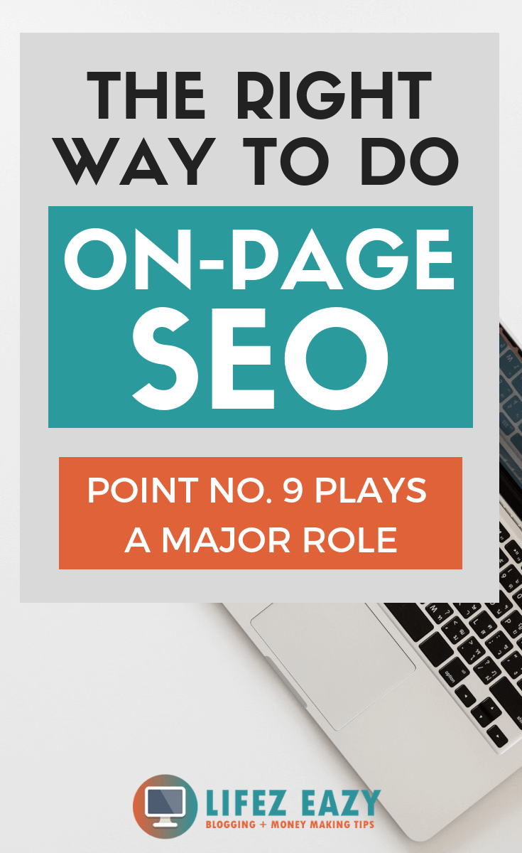 Pinterest pin for On-Page SEO