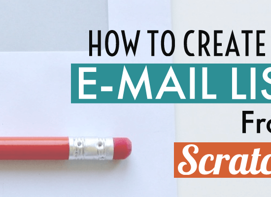 How to start building an email list