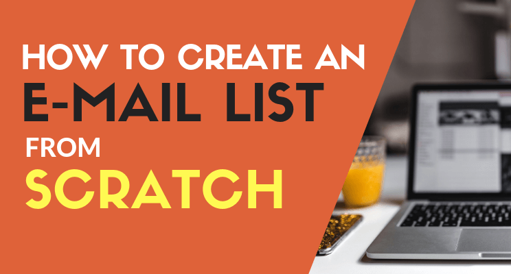 How to create an email list blog post cover