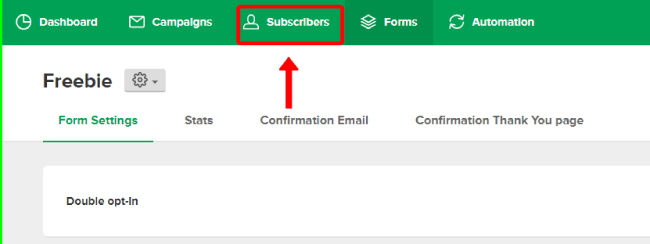 Mailerlite subscribers option