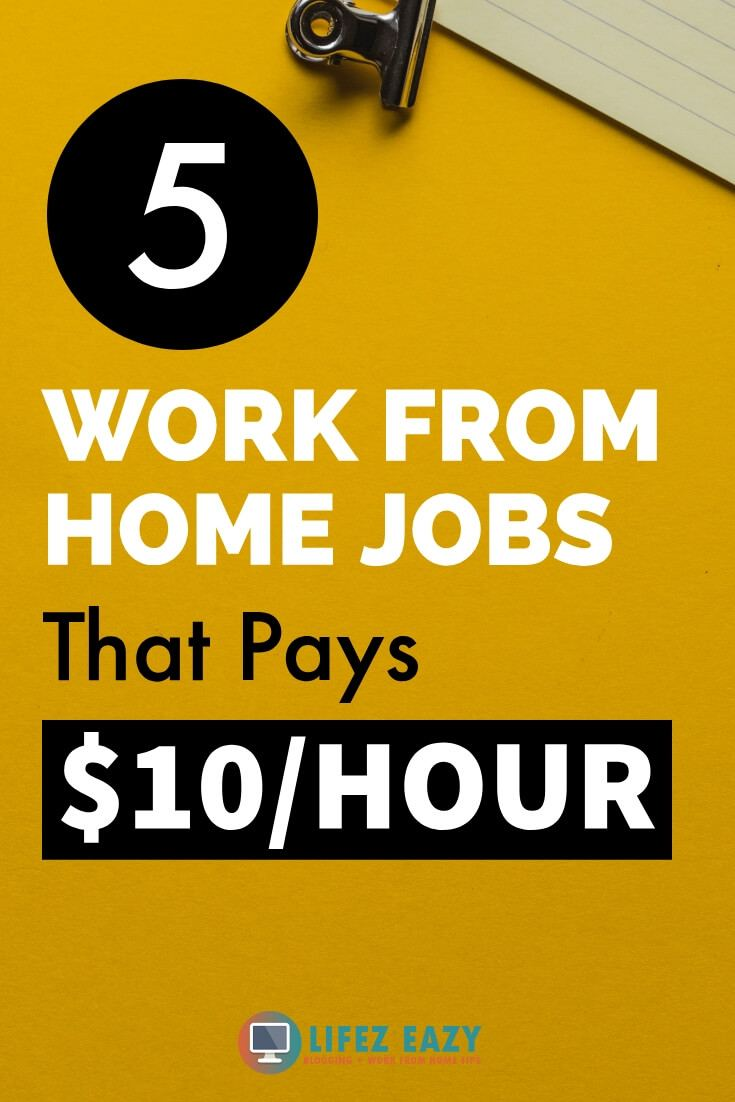 Online Work from home jobs Pinterest pin