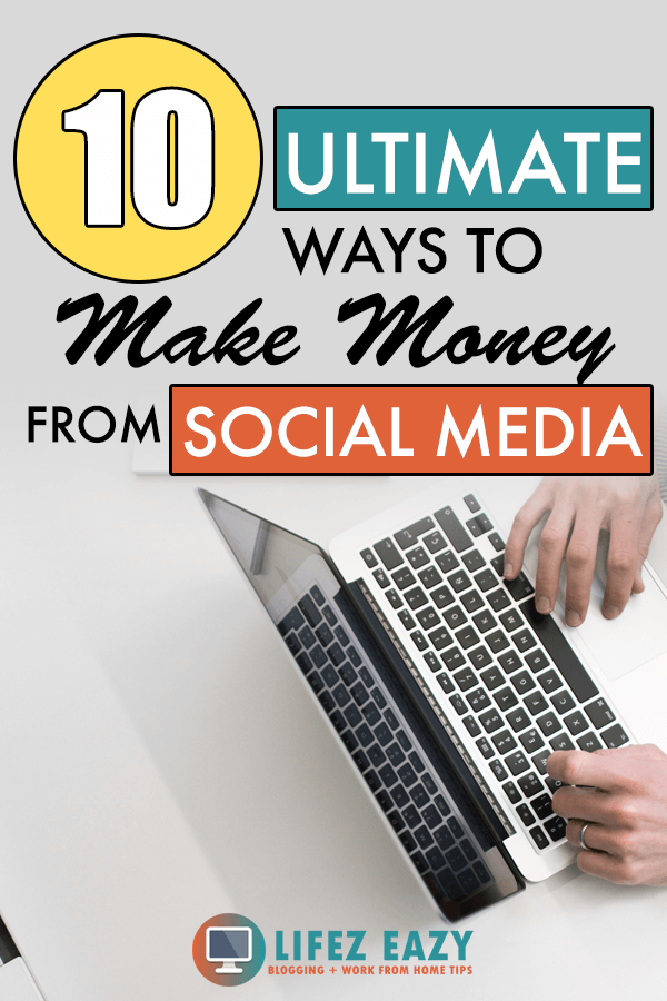 Pinterest pin showing how to make money from social media