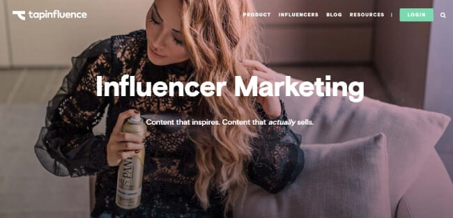 Tapinfluence website