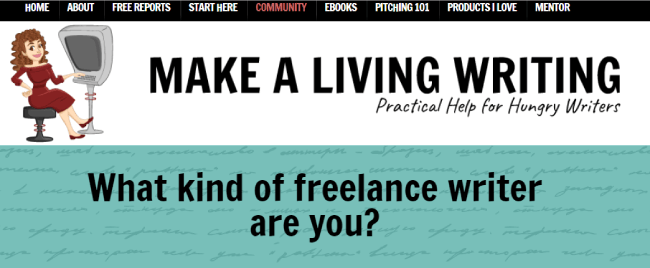 Make a living writing website