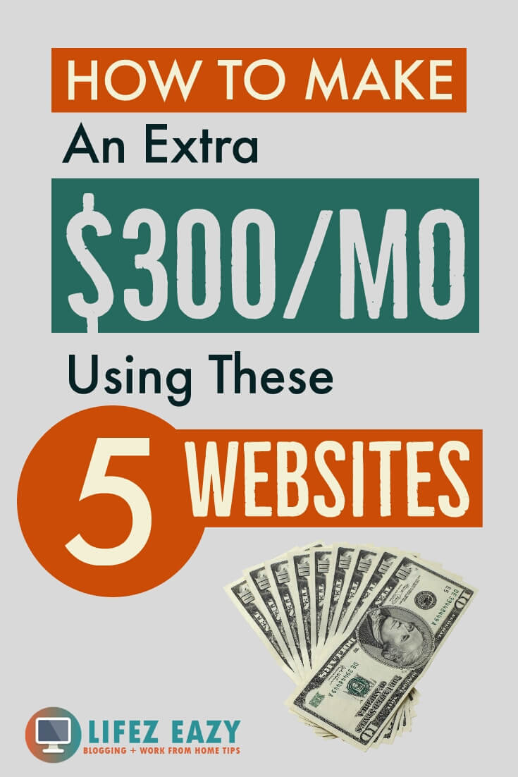 Pinterest pin for make money extra post
