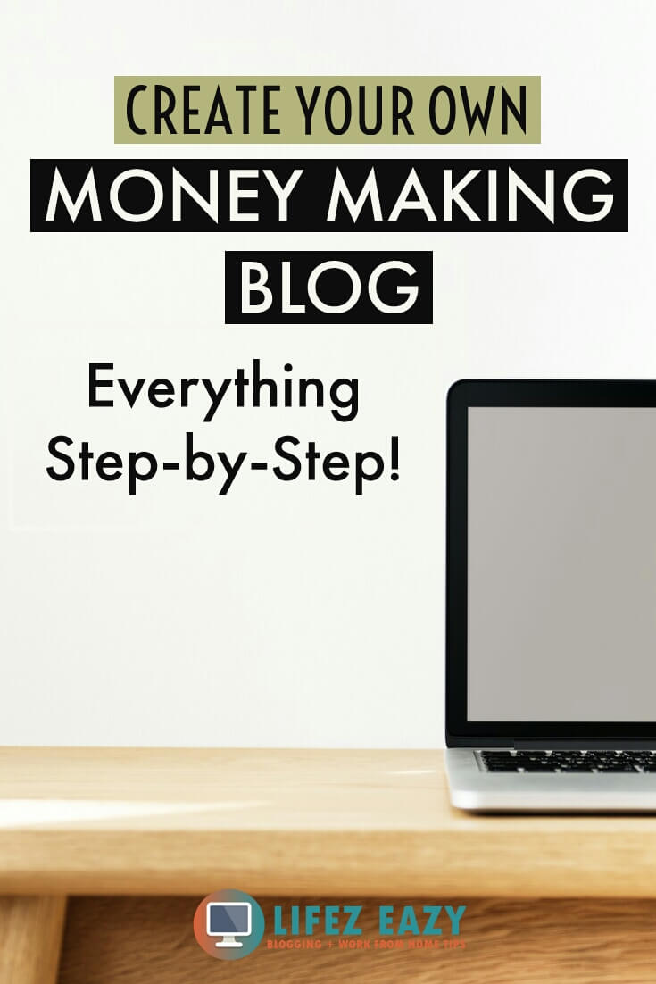 Pinterest pin for starting a blog