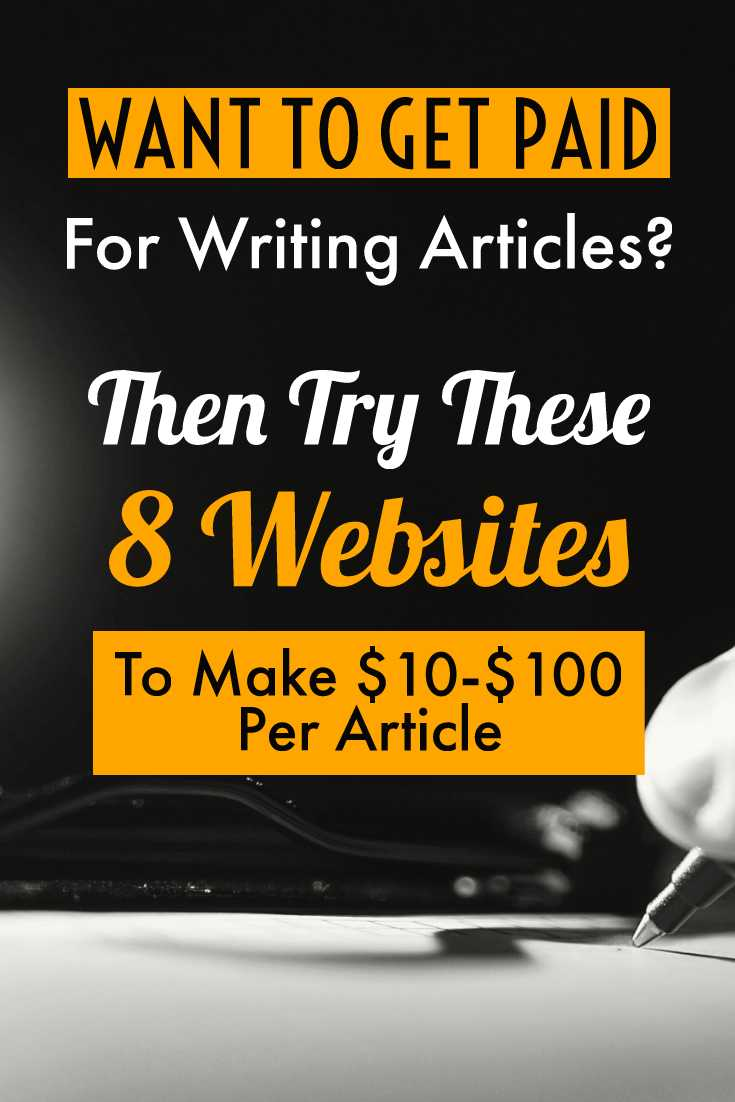 Pinterest pin for Writing Sites that Pay