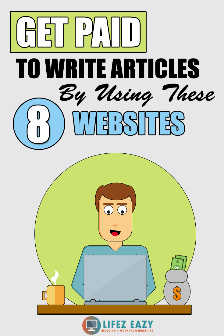 Online article writing sites that pay Pinterest pin