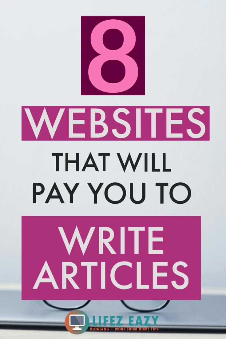 Make money from writing article Pinterest pin