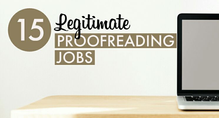Legitimate Proofreading Jobs